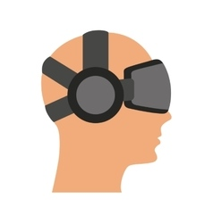 Person with augmented reality glasses vector image