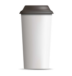 plastic coffee cup icon realistic style vector image
