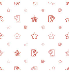 review icons pattern seamless white background vector image