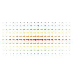 Right arrow spectral halftone pattern vector