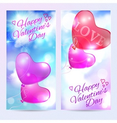 Romantic background valentines day card vector image vector image