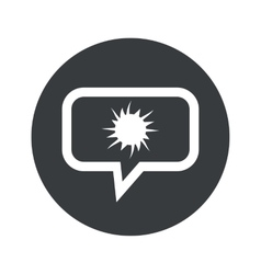 Round dialog starburst icon vector