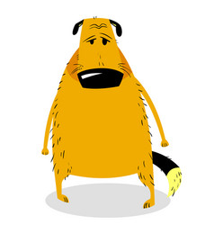 sad dog cute dog character vector image
