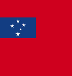 Samoa flag icon in flat style national sign vector