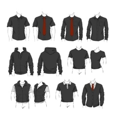 Set of clothes vector