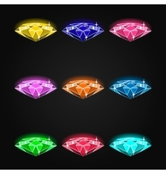 Set of gems vector image