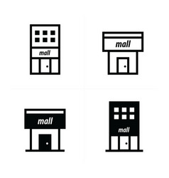 Shopping malls icons vector