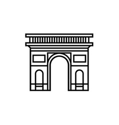 silhouette icon of a triumphal arch in paris vector image