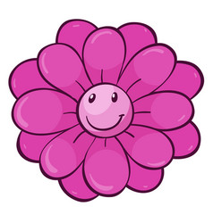 Single flower in pink color vector
