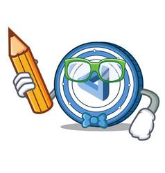 Student maidsafecoin character cartoon style vector