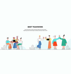 successful teamwork vector image