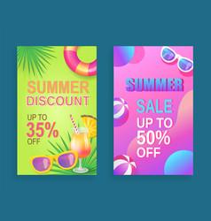 Summer sale propositions set vector