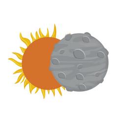 Sun and moon icon vector