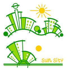 sun sity vector image