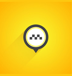 Taxi logo on yellow background vector