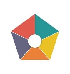 Teamwork around symbol icon vector