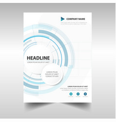Technology abstract brochure report flyer vector