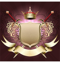 The shield with crown vector