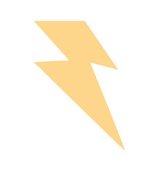 Thunder weather flat vector