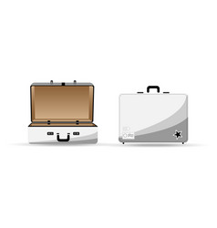travel bag in white color vector image