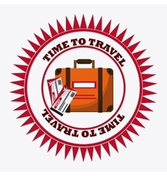 Trip icon set Time to travel design vector image