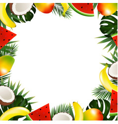 tropical fruit frame vector image