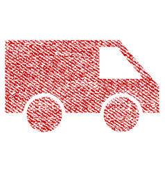 Van fabric textured icon vector