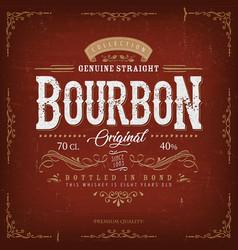 Vintage bourbon label for bottle vector