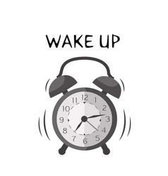 wake up alarm clock background image vector image
