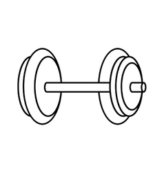 Weight fitness healthy lifestyle icon vector