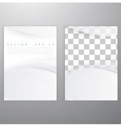 White of wavy banner vector