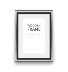 Wooden Rectangle Frame Dark vector image