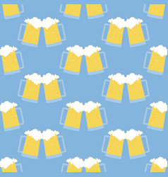 glass of beer pattern vector image vector image