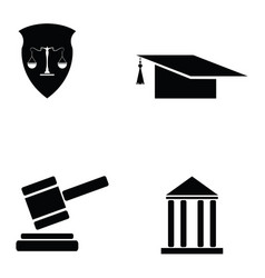 Law icon set vector