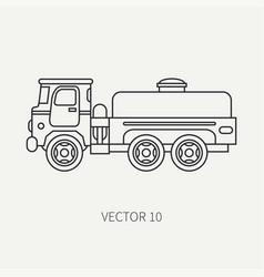 line flat plain icon service staff vector image vector image