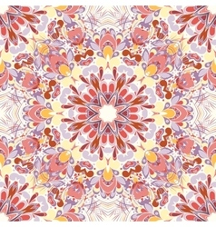 Mandala round seamless pattern vector image vector image