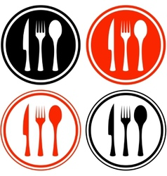 Set icons with kitchen utensil vector