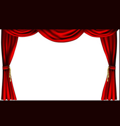 theatre or cinema curtains vector image