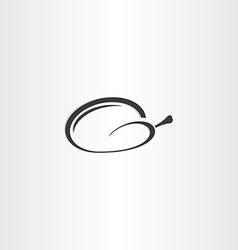 chicken icon black symbol design vector image vector image