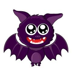 Cute Smiling Bat for Halloween vector image