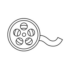 Line reel scene to projection the movie in the vector