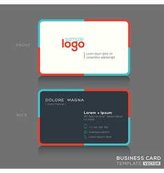 Modern simple business card design template vector image vector image