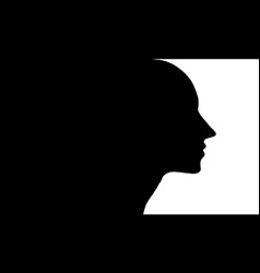 Profile of a woman vector