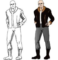 bad guy comics vector image