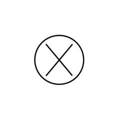 close error icon vector image