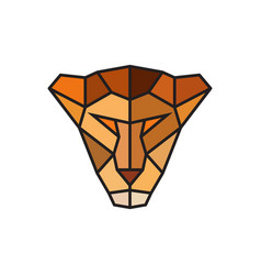 head of a lioness logo template for business vector image vector image