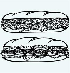 Sub Sandwich vector image vector image