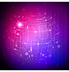 tech sphere background vector image vector image