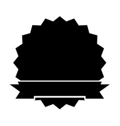 black icon round emblem vector image