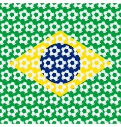 Brazil soccer background vector image